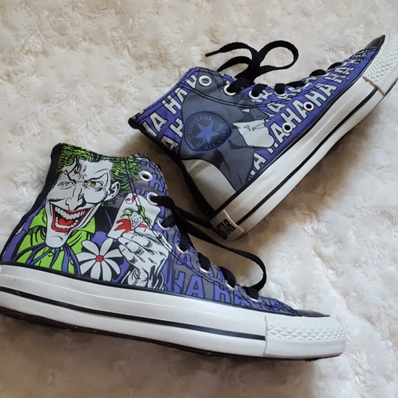 fe8b42582a2 Converse Shoes - Converse Chuck Taylor All Star Batman   Joker high